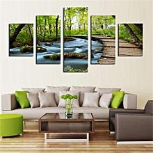 5pcs Canvas Painting Oil Print Landscape Dream Land Wall Art Picture Home Decor