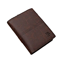 2pcs GENUINE Leather Men's Wallet Business Credit Card Money Holder Purse Bifold Gift Dark Coffee