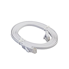 Ethernet Cable High Speed CAT6e Flat Network LAN for Home Office white