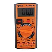 Digital Multimeter DT-9205M+ LCD for AC DC Voltage Current Resistance Capacitance-Orange