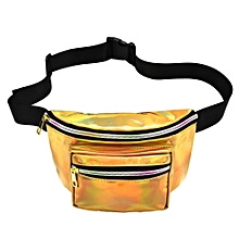 guoaivo Unisex Outdoor Sports Casual Reflector Laser Unisex Waist Pack