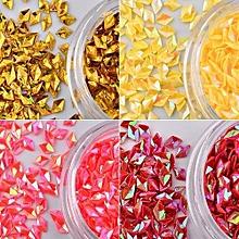 bluerdream-12 Box  Diamonds Dazzling Tips Nail Sticker Sequins Colorful Nail Art Decoration-Multicolor