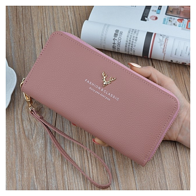 d797ee9fe7c 【Pink】Fashion ladies wallet female growth hand bag new wave Korean version  of the