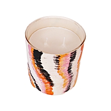 African Art scented candle: stripes