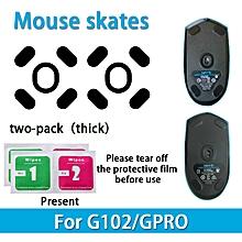 2 sets Teflon 0.6mm 3M Mouse Feet mouse Skates for Logitech G102 GPRO Mouse