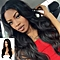 Long Loose Wavy No Lace Front Wig Curly Full Natural Hair Wigs Women Black -Black