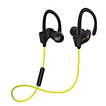 S4 In-Ear Bluetooth Wireless Sport Running Headset Bluetooth Headphones(Yellow)