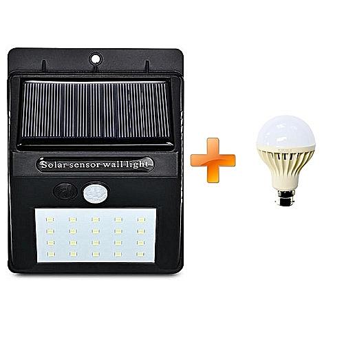 Wall Light Jumia: Sanxing LED Solar Power PIR Motion Sensor Wall Light