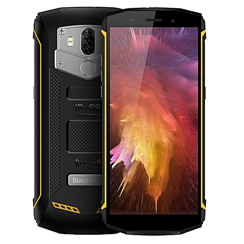 BV5800, 2GB+16GB, IP68 Waterproof Dustproof Shockproof, Dual Back Cameras, 5580mAh Battery, Fingerprint Identification, 5.5 inch Android 8.1 MTK6357 Quad Core up to 1.5GHz, NFC, OTG, Network: 4G(Yellow)