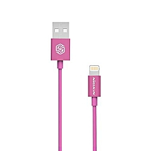 Rapid Cable MFi Certification 8 Pin Charging Data Transmission Round Cord For IPhone 1M - Peach Pink