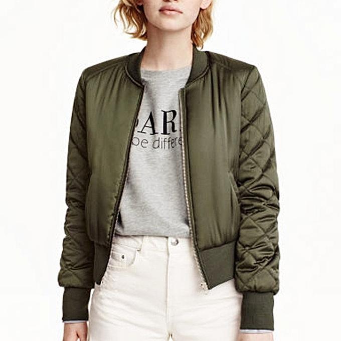 ZANZEA Winter Women Bomber Hoodies Coats Cool Stand Collar Long Sleeve  Short Padded Jackets Sweatshirts Biker 8a115415f