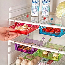 Honana Multipurpose Fridge Storage Sliding Drawer Refrigerator Organizer Space Saver Shelf