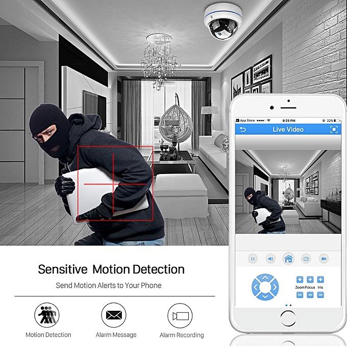 2MP 3MP 5MP Audio H265 IP Camera 2 8mm Vandalproof 48V POE CameraOnvif P2P  Motion Detect RTSP Email Alert POE CCTV Dome Camera(48V PoE 5MP)(3 6mm)