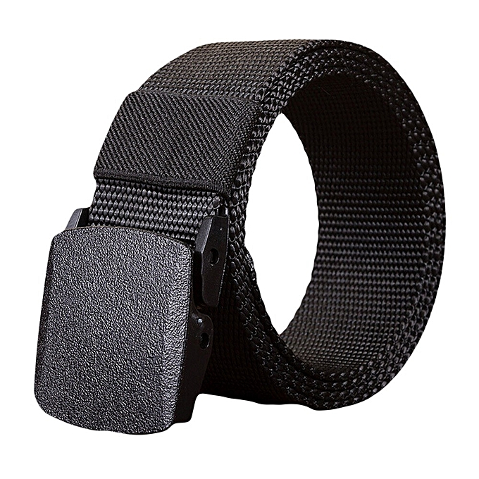Hiamok Fashion Man Women Automatic Nylon Belt Buckle Military Fans Tactical Canvas  Belt ea24738a282