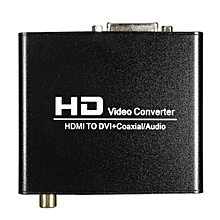 HDMI To DVI Coaxial 3.5MM Audio Converter Adaptor Box For PS3 PS4 Xbox360 DVD TV US