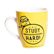 Yellow Ceramic Mug Branded Study Hard