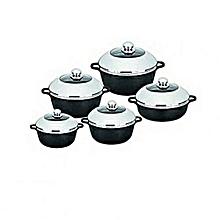 Cooking Pots - 10 Pieces - Black