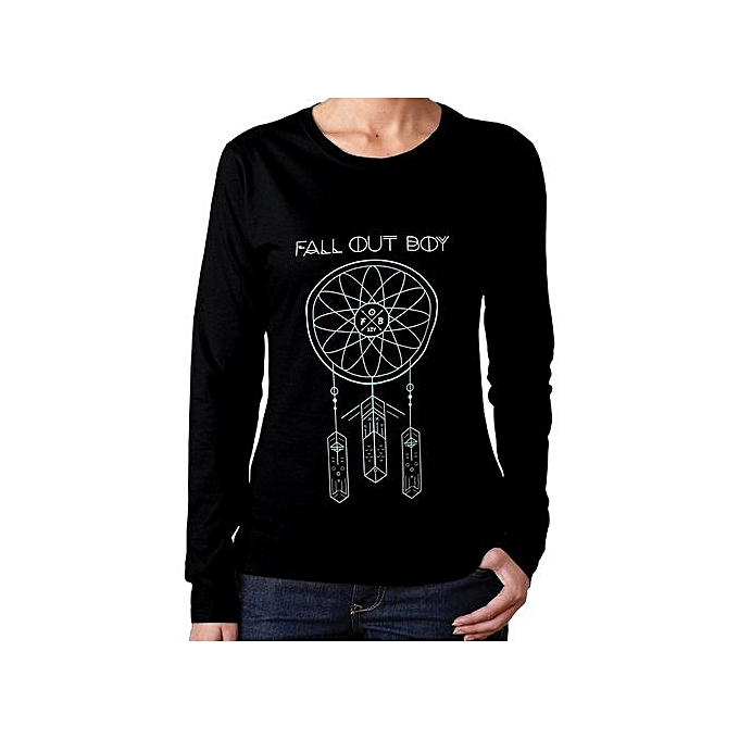 7dbb9170 Custom Funny T Shirts Women's Cool Fall Out Boy Dream Catcher Long Sleeve  Shirts Tee Men's