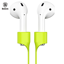 Baseus Earphone Strap Magnetic Adsorption Anti-lost Wire Rope Connector Silicone Accessory for AirPods NEON GREEN