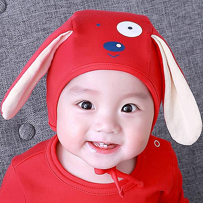 a52740f4ff70d Toddler Infant Baby Kids Boys Girls Cartoon Dog 3D Ears Beanie Headgear Hat  Cap-Red