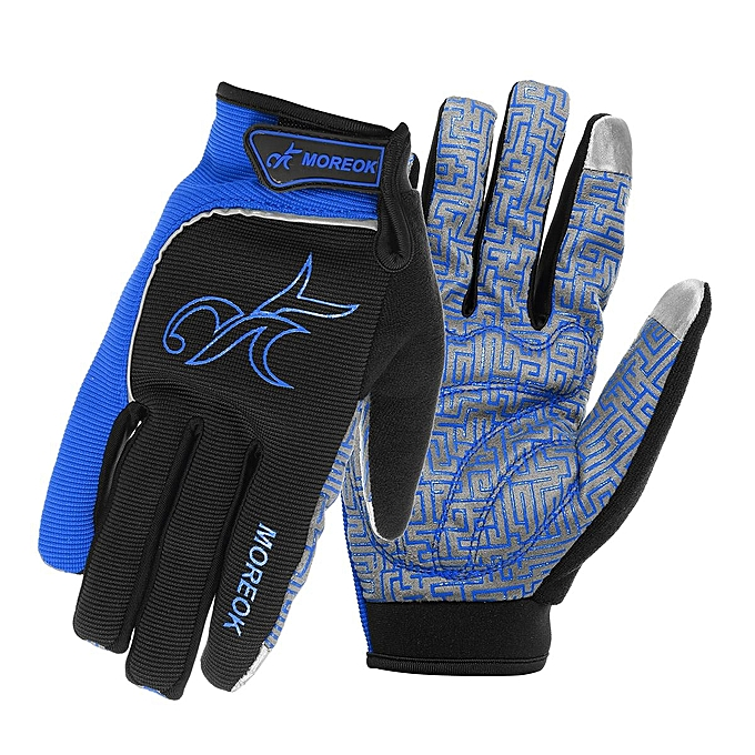 2484b8b9825 1 Pair Cycling Motorbike Warm Gloves Touch Screen Full Finger Gloves With  Reflective For Bike Sport