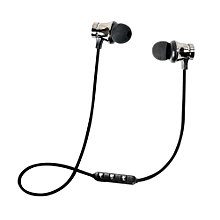 Olivaren BT 4.1 Stereo Earphone Headset Wireless Magnetic In-Ear Earbuds Headphone - Silver