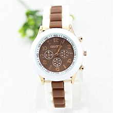 Watch Rubber Candy Jelly Fashion Unisex Silicone Quartz(Brown)