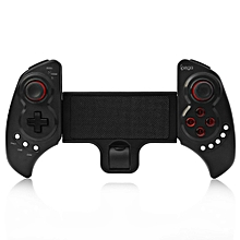 PG - 9023 Practical Stretch Bluetooth Game Controller Gamepad Joystick with Stand-BLACK