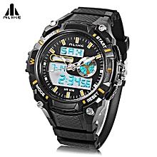 AK14100 Male Dual Movt Sport Watch Chronograph 5ATM Outdoor Wristwatch-Orange-Orange