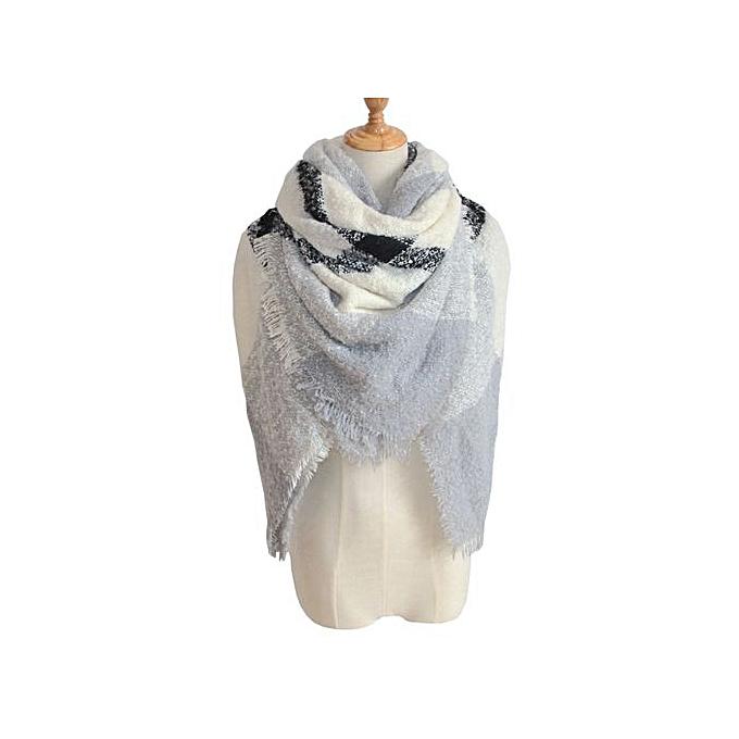 0a7ef180266 Hiaojbk Store Womens Tartan Plaid Square Blanket Scarf Large Checked Wrap  Shawl Winter Warm E-AS Shown