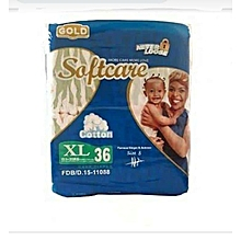 Soft Care Baby diapers- Extra large(over 15kgs) 36 pieces