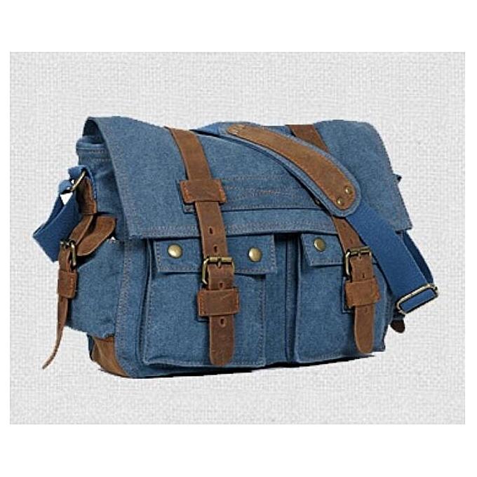 e2f288c663ee Generic Nice Canvas bag Retro messenger bag Leisure men shoulder ...