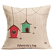 Valentine's Day Gift Fashion Throw Pillow Cases Cafe Sofa Cushion Cover