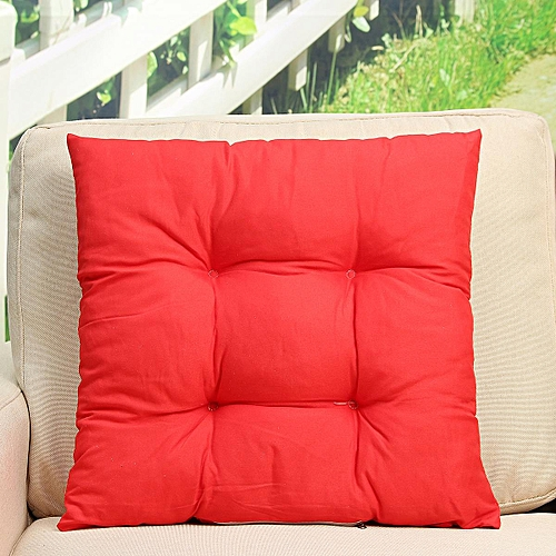 Patio Chair Cushion Set Seat Dog Cat Pads Garden Outdoor Furniture Soft Pillow Red
