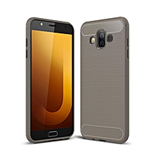 Galaxy J7 Duo Case, Ultra-thin Brushed Carbon Fiber Shockproof Anti-Fingerprints Slim Armor Soft TPU Phone Back Full Cover Case For Samsung Galaxy J7 Duo