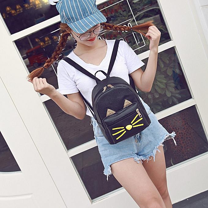 guoaivo Lovely Cat Backpacks Women School Teenage Girls Travel Laptop  Bagpack BK caf945af7e