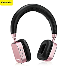 AWEI A900BL Bluetooth V4.1 Wireless Stereo Music Headset Headphones-ROSE GOLD