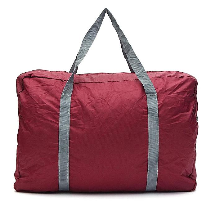 9cd383638 Fashion Large Foldable Large Capacity Waterproof Storage Bag Travel Handbag  New - Wine Red