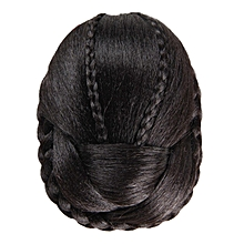bluerdream-Hair Braided Wig Bun-Black