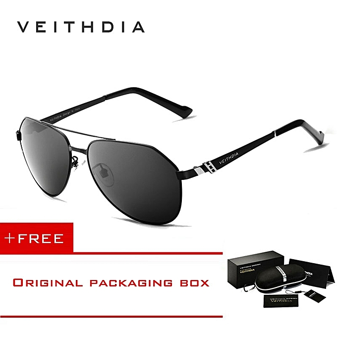 0507fc57a95 VEITHDIA Stainless Steel Mens Sunglasses Polarized Mirror Lens Eyewear  Accessories Driving Sun Glasses For Men 3559Grey