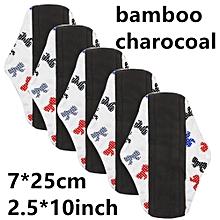 Reusable Bamboo Charocoal Washable Menstrual Pad Mama Sanitary Towel Pad Blue M