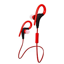 Outdoor Sports Wireless Bluetooth 4.1 Headphone Earphone Headset Bluetooth For Computers Iphone Android Red