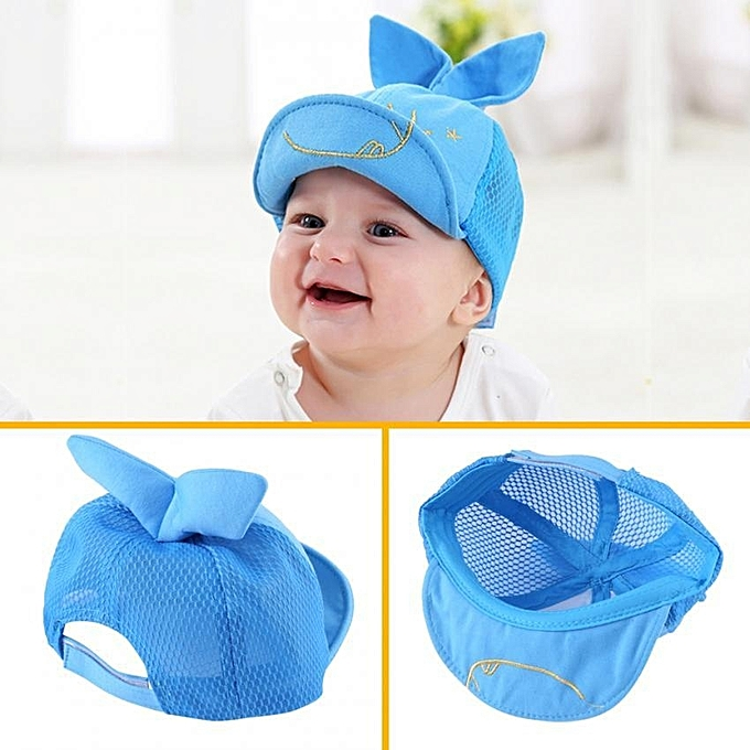 f6326b16acdbe ... Baby Boys Girls Infant Cotton Baseball Cap With Cute Rabbit Ear Toddler  Kids Sun Hat (
