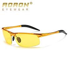 55e673382137 Aoron Aluminum Magnesium Alloy Glasses for Day and Night Men Driving Night  Goggles Polarized Sunglasses 8177
