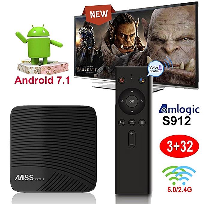 Mecool M8S PRO L Android 7 1 Smart TV BOX S912 Octa-core BT4 0 3GB+32GB 4K  New
