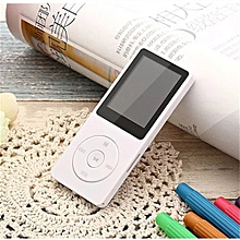 MP3 70 Hours Playback MP3 MP4 Lossless Sound Music Player FM Recorder TF Card -White