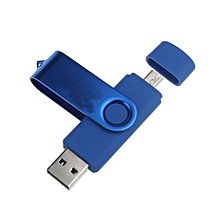 USB 64GB TGA High Speed Connection Phone USB2.0 Flash Storage Drive U-Disk-Blue - Blue