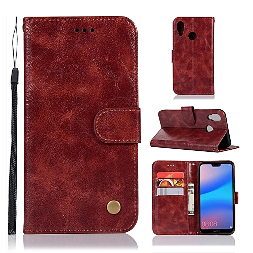 outlet store 48ce8 9e42b Casing For Huawei P20 Lite,Reto Leather Wallet Case Magnetic Double Card  Holder Flip Cover