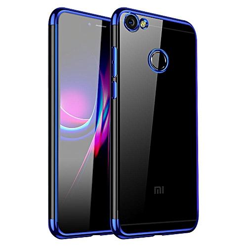 Redmi Note 5A Prime Case, UltraSlim Soft TPU Transparent Plating Side Case  Cover For Xiaomi Redmi Note 5A Prime 220798 (Blue)