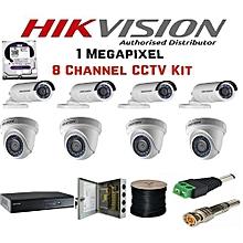 8 kit CCTV Camera + Free HDMI cable